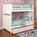 Coaster Edith Twin over Twin Bunk Bed - Item Number: 461100+400323