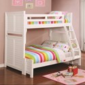 Coaster Edith Twin over Full Bunk Bed - Item Number: 461101