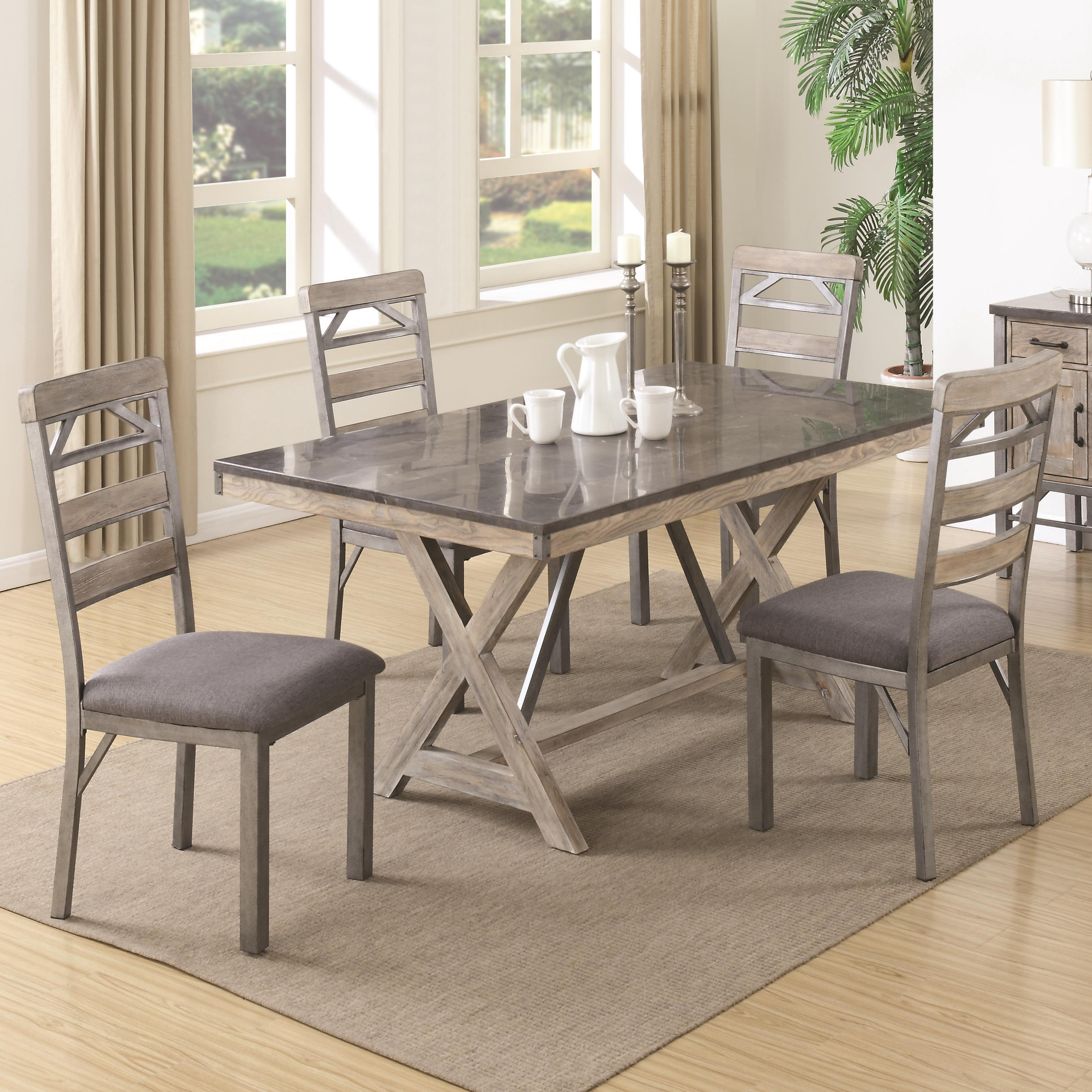Coaster Edmonton 5 Piece Table & Chair Set - Item Number: 106321+4x106322