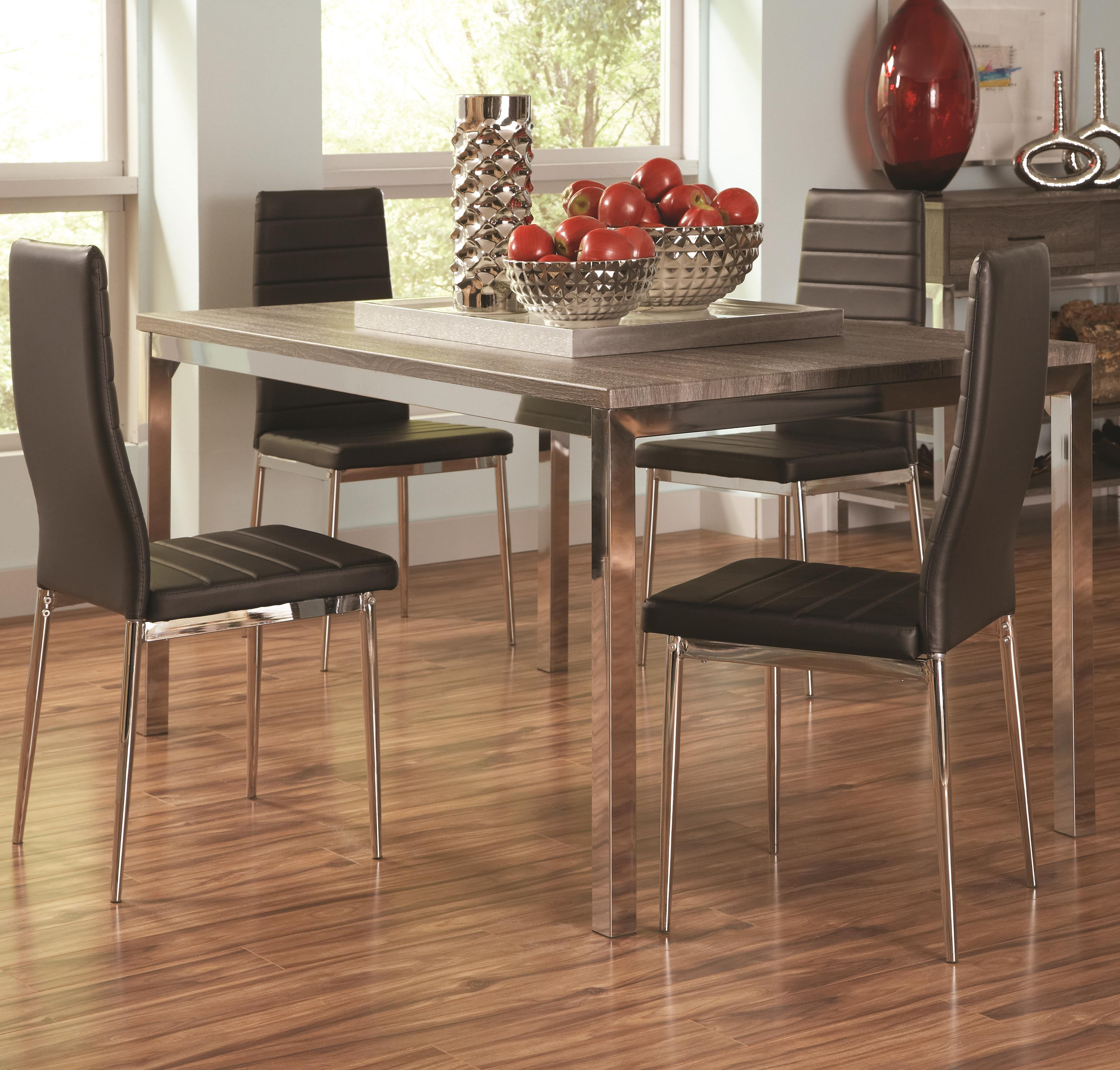 Coaster Eldridge 5 Piece Table & Chair Set - Item Number: 121121+4x106222