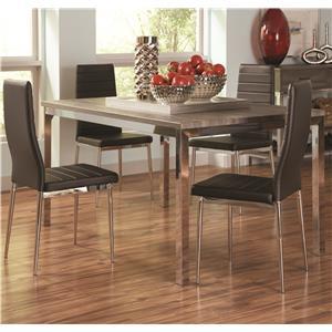 Coaster Eldridge 5 Piece Table & Chair Set
