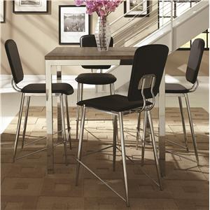 Coaster Eldridge 5 Piece Pub Table Set