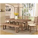 Coaster Elmwood Table and Chair Set - Item Number: 105541+4x42+43