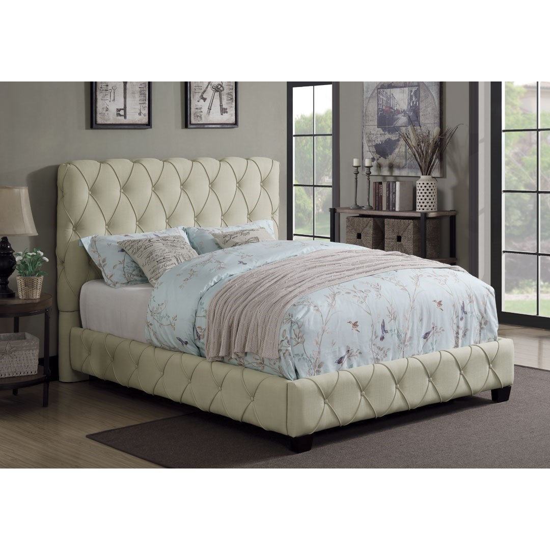 Coaster Elsinore 300684Q Upholstered Queen Bed With Button Tufting ...