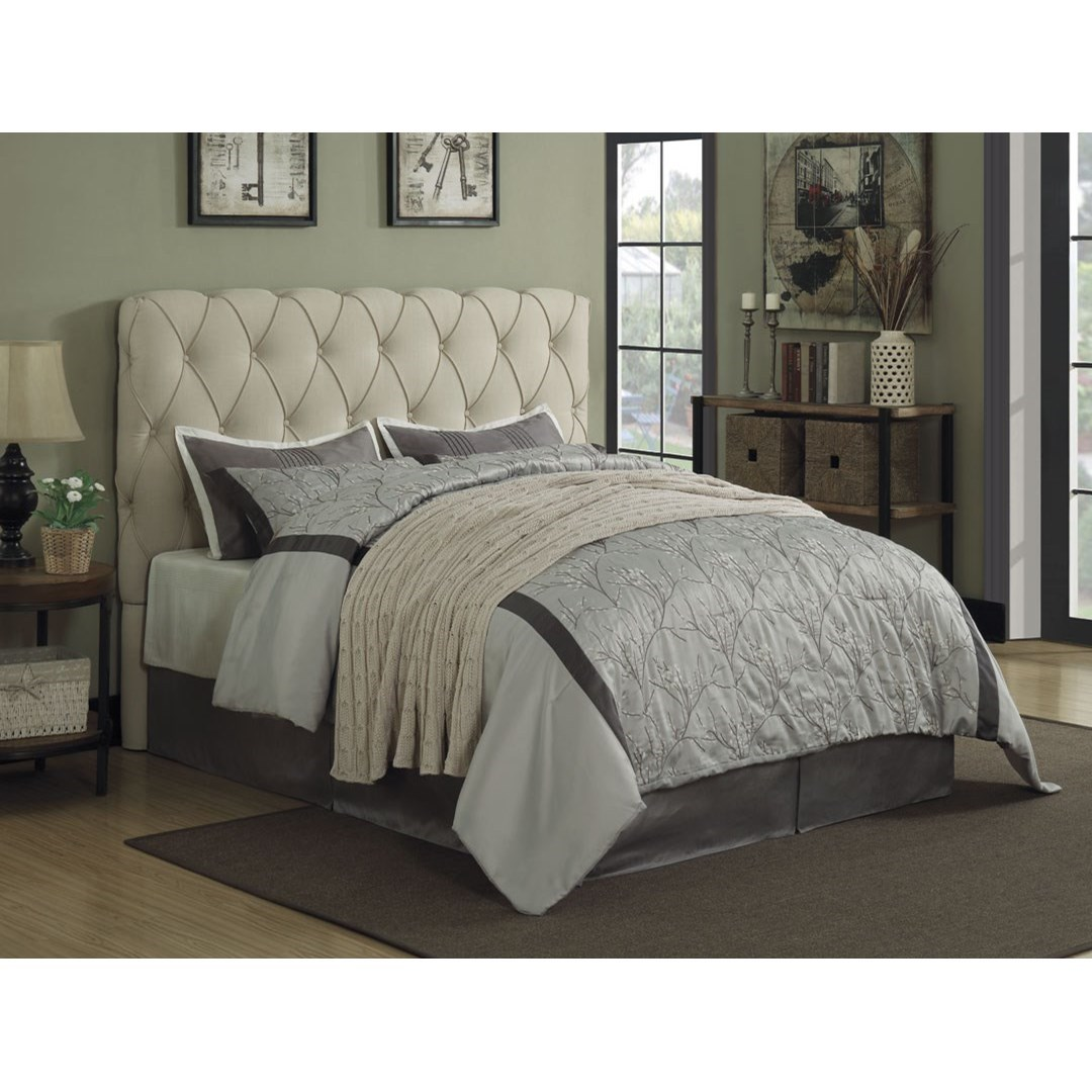 value city headboards coaster elsinore upholstered bed with button tufting 13709