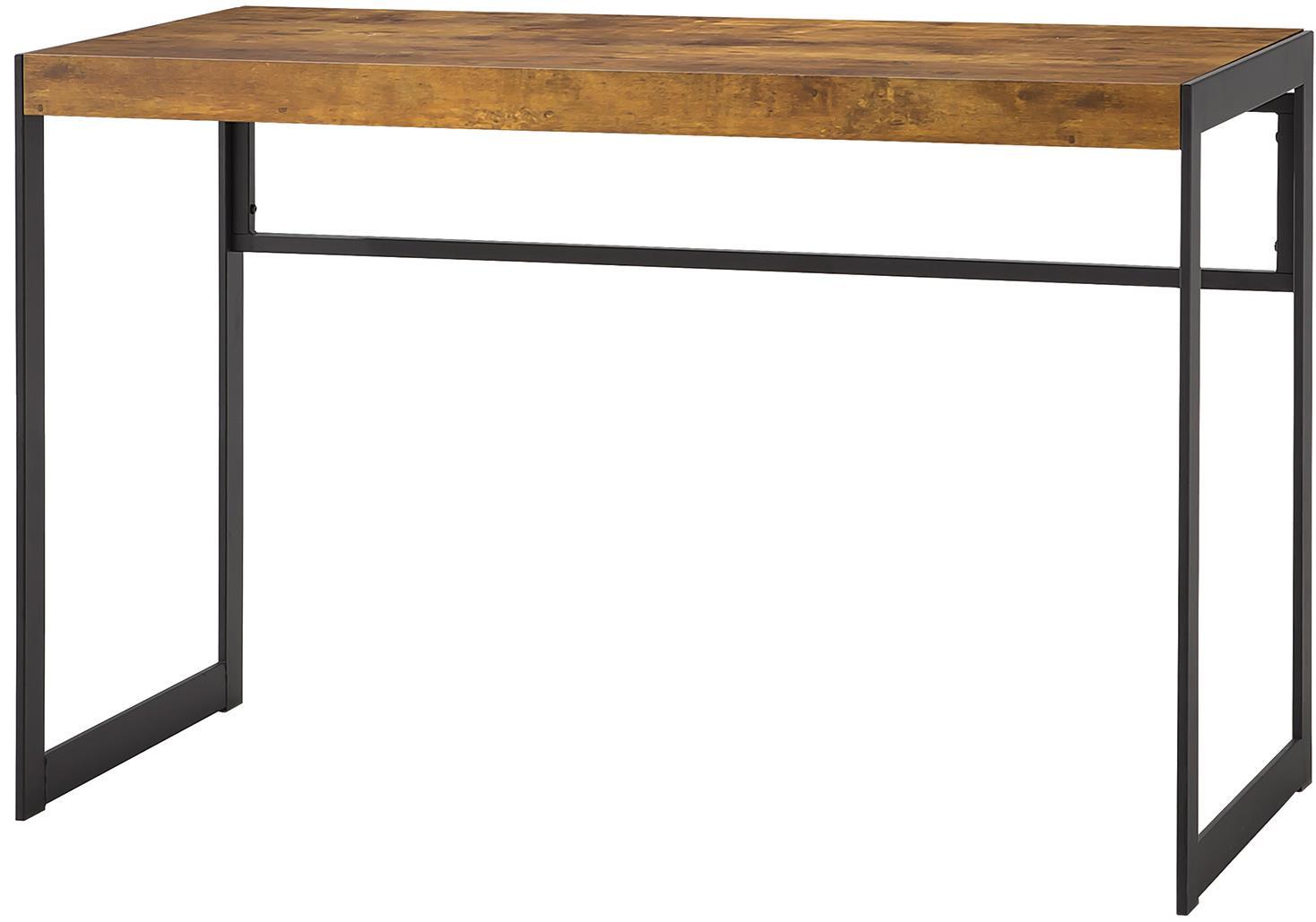 coaster estrella computer desk  item number . coaster estrella industrial computer desk with metal frame  value