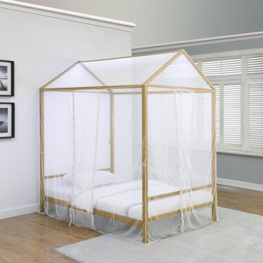 Twin LED Canopy Bed