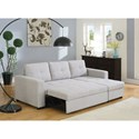 Coaster Everly Beige Sectional Sofa with Sleeper