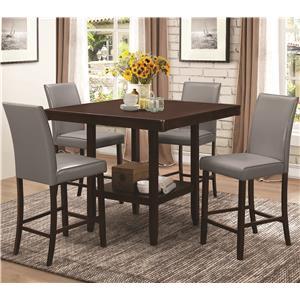 Coaster Fattori Counter Height Table Set