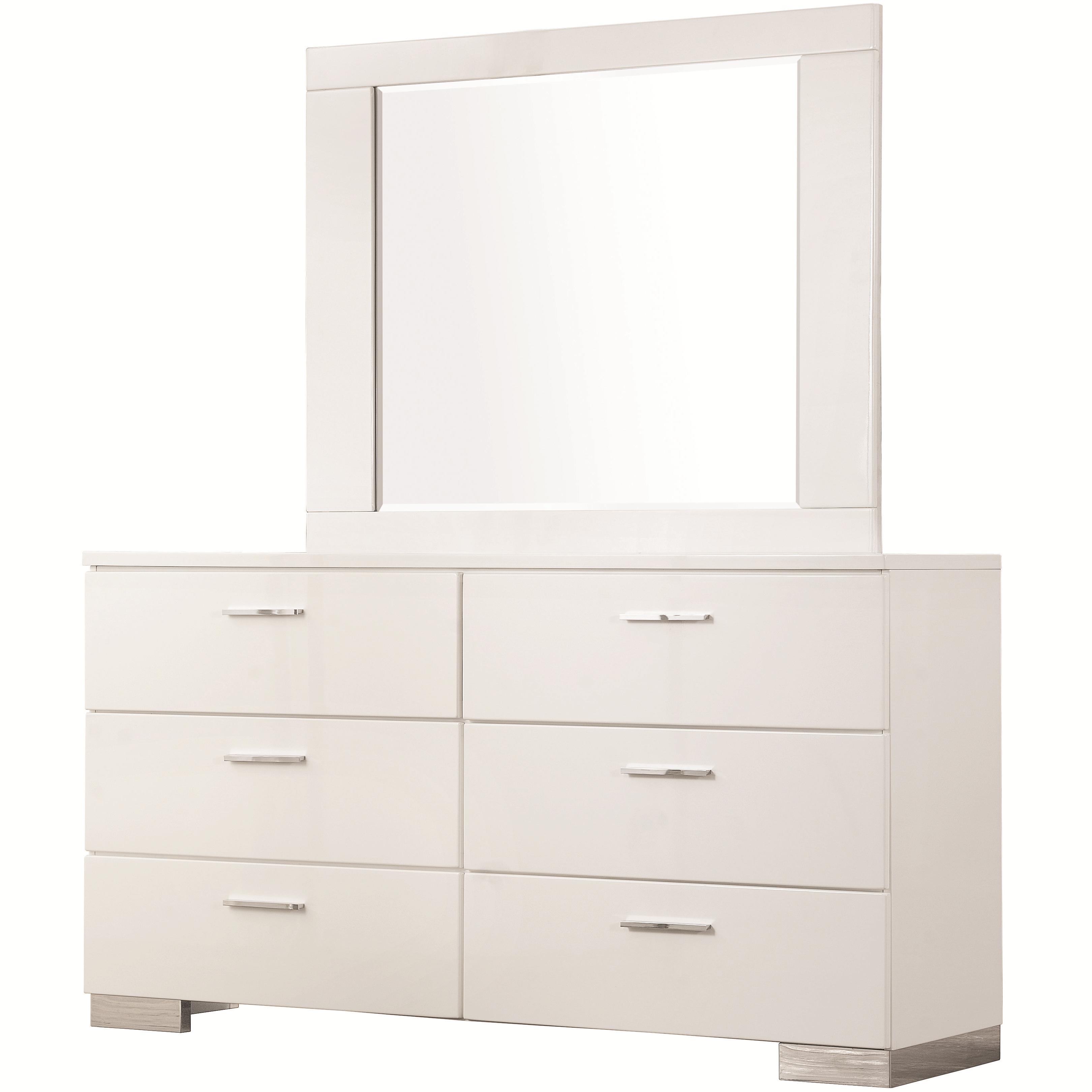 Coaster Felicity Dresser and Mirror Set - Item Number: 203503+203504