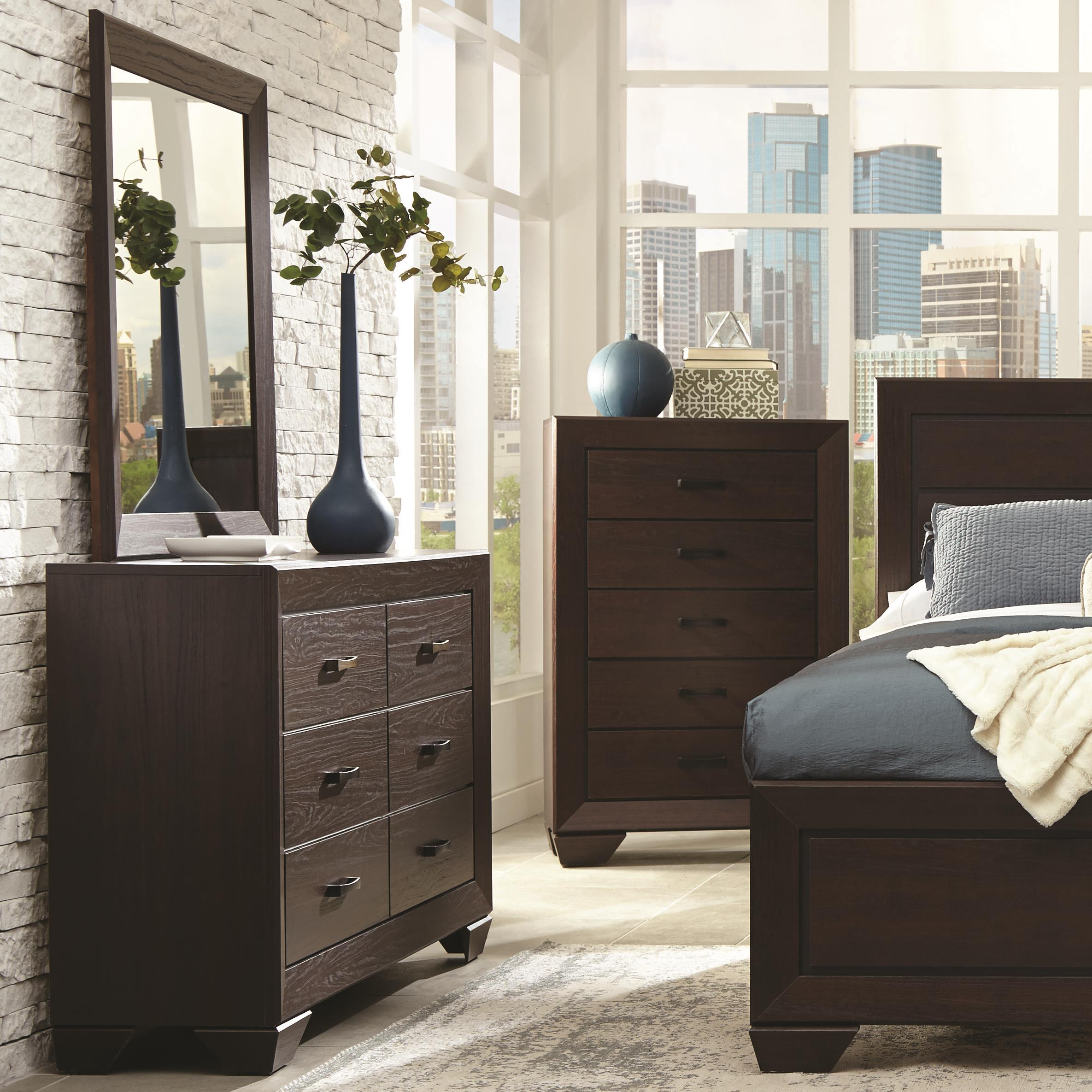 Coaster Fenbrook Transitional Six Drawer Dresser And