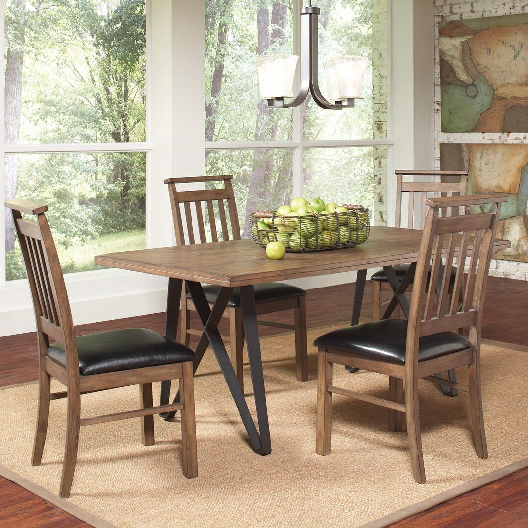 Coaster Ferguson 5 Piece Industrial Table Set - Item Number: 106341+4x106342