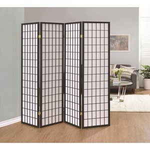 Coaster Folding Screens Four Panel Folding Screen