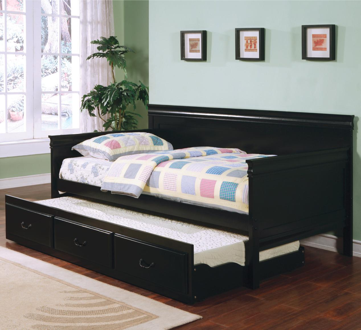 Coaster Fountain Daybed - Item Number: 300036BLK