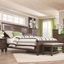 Coaster Franco King Bed with Louvered Panel Headboard - Bed Shown May Not Represent Exact Size Indicated