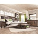 Coaster Franco King Bed with Louvered Panel Headboard