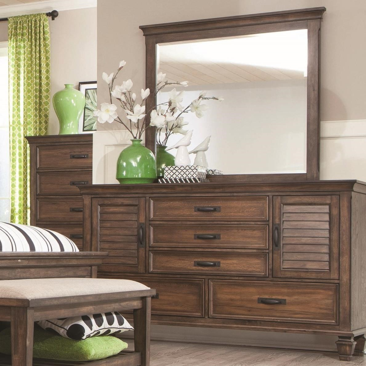 Coaster Franco Dresser and Mirror Combo - Item Number: 200973+4