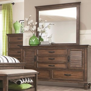 Coaster Franco Dresser and Mirror Combo
