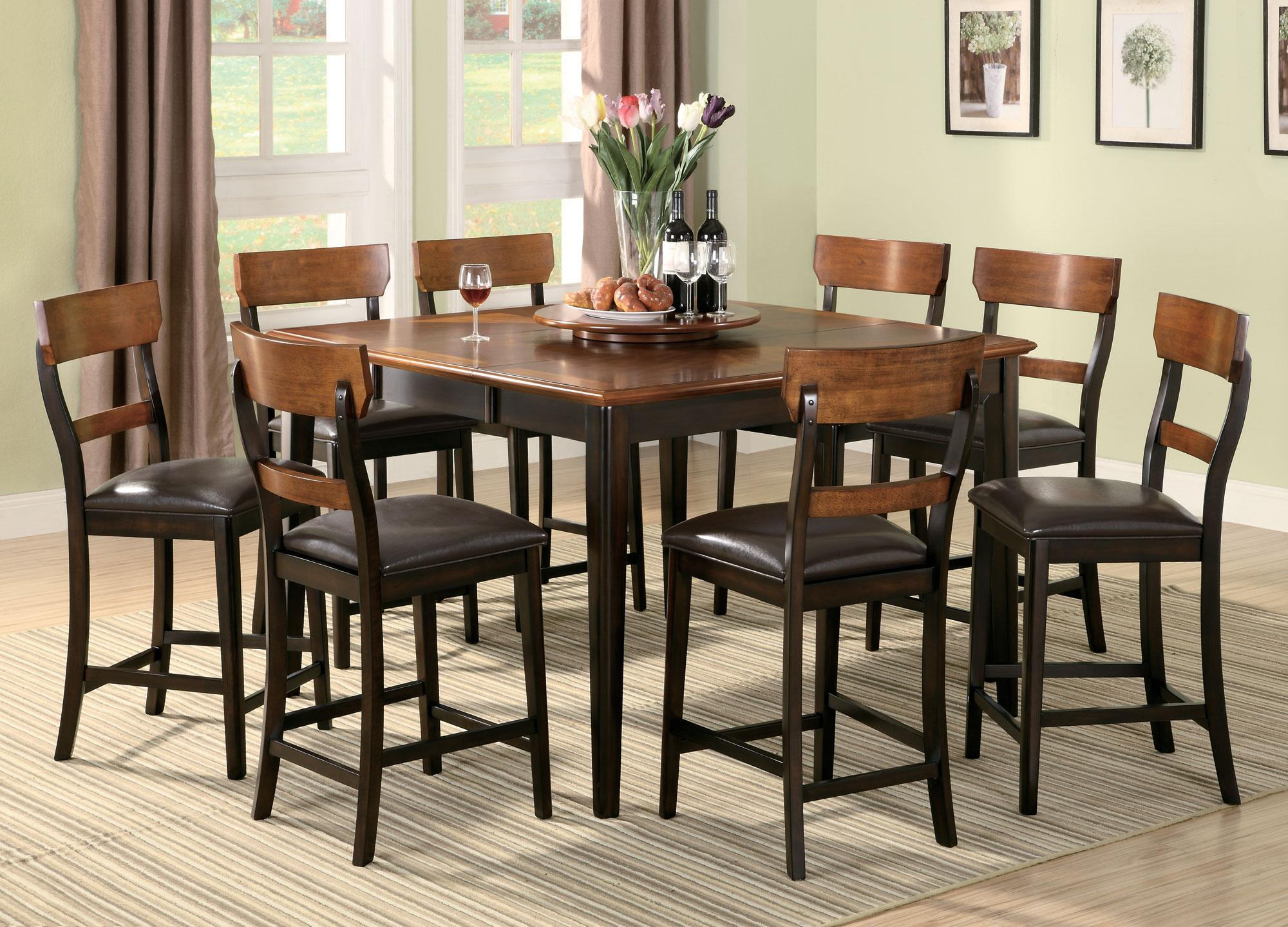 Coaster Franklin 8 Piece Counter Height Dining Set - Item Number: 102198+8x102199