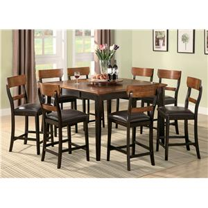 Coaster Franklin 8 Piece Counter Height Dining Set