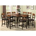 Coaster Franklin Counter Height Table - Shown with Counter Height Dining Chairs.