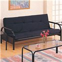 Coaster Futons Casual Metal Futon Frame - Mattress Not Included