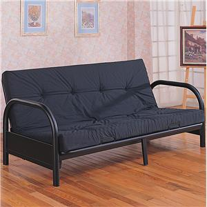 Coaster Futons Contemporary Metal Futon Frame And Mattress