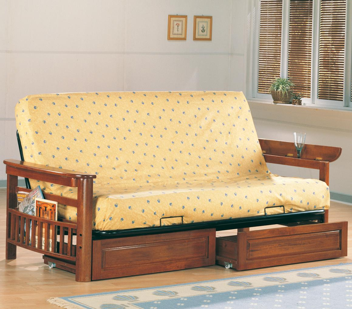 Coaster Futons Futon Frame and Drawer Set with Mattress - Item Number: 4075+6+2002