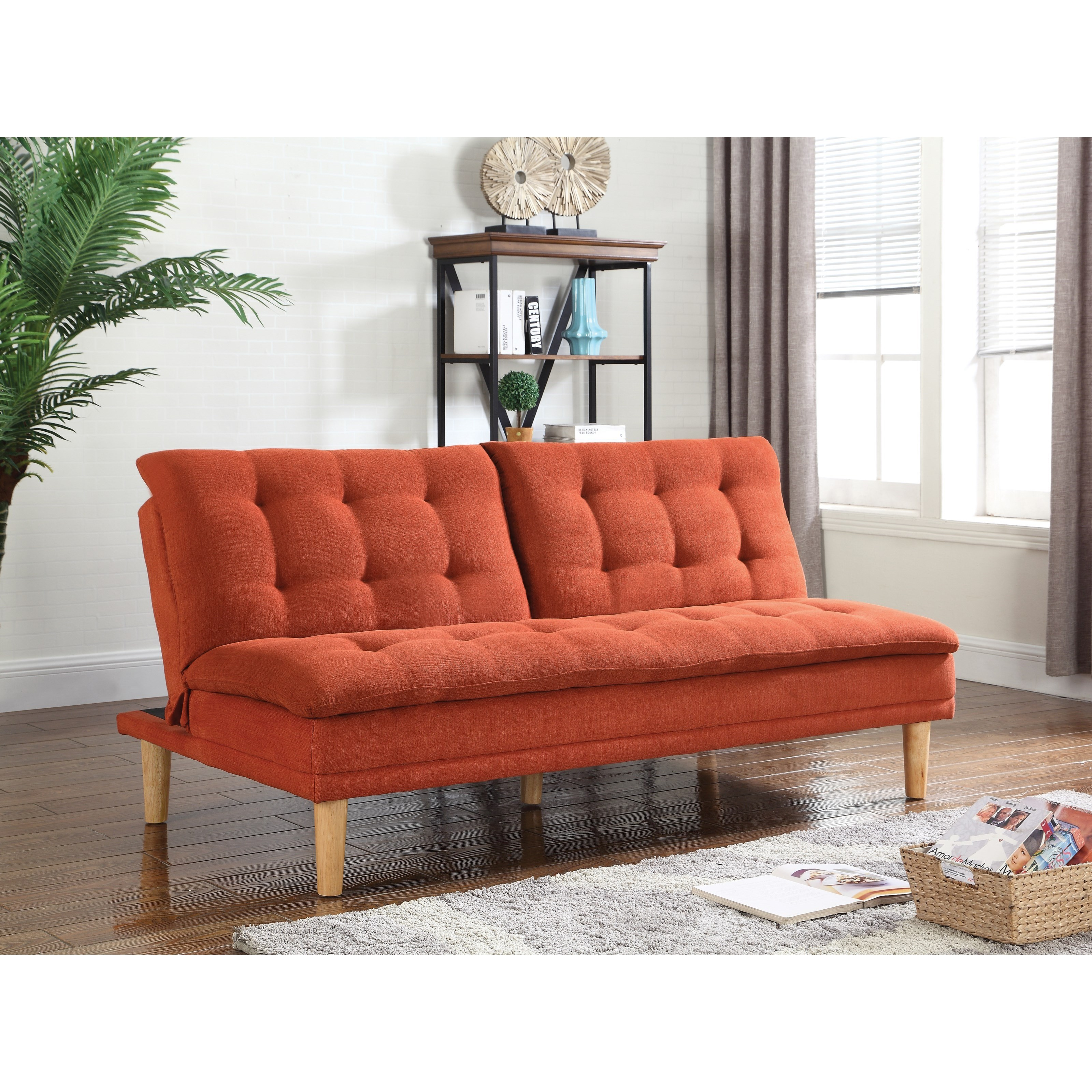 leather futon faux sofa shop beds armrests removable bed and with futons convertible