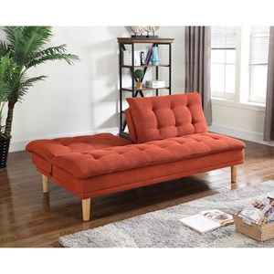 coaster futons sofa bed coaster futons 503976 button tufted sofa bed with chenille      rh   dunkandbright
