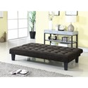 Coaster Futons Dark Brown Sofa Bed with Button Tufting