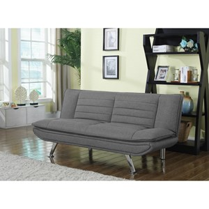 Furniture Legs San Diego coaster futons grey sofa bed with chrome legs - furniture place