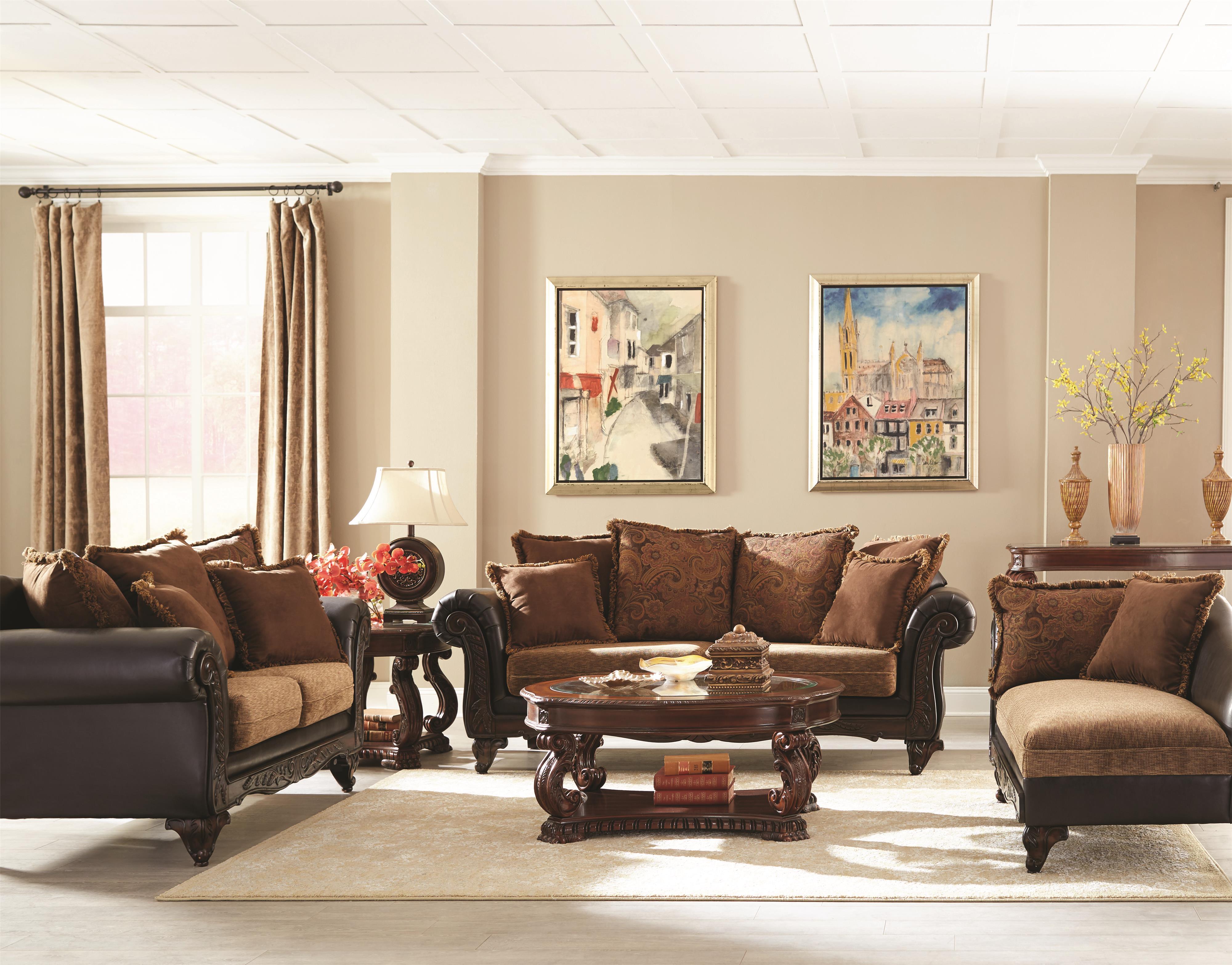 Coaster Garroway Living Room Group - Item Number: 5052 Living Room Group