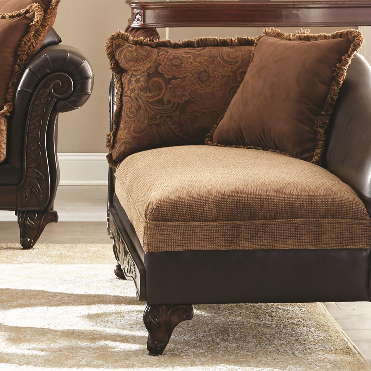 coaster garroway traditional chaise value city furniture