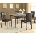Coaster Garza 5 Piece Table & Chair Set - Item Number: 100611+4x100612
