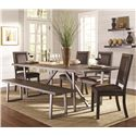 Coaster Genoa Table and Chair Set - Item Number: 104911+4x12+13