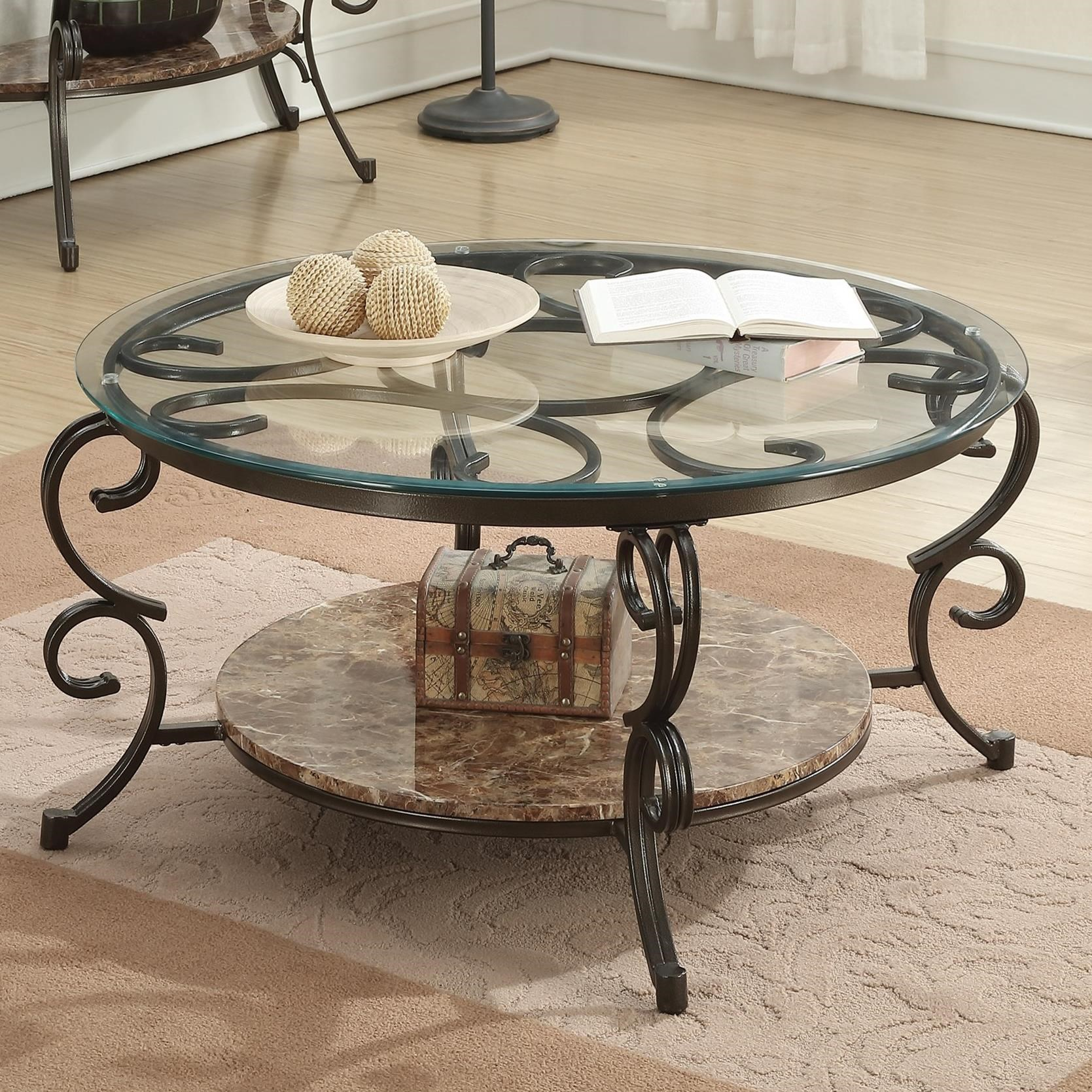Coaster Gertrude 705148 Coffee Table With Faux Marble Shelf Dunk Bright Furniture Cocktail