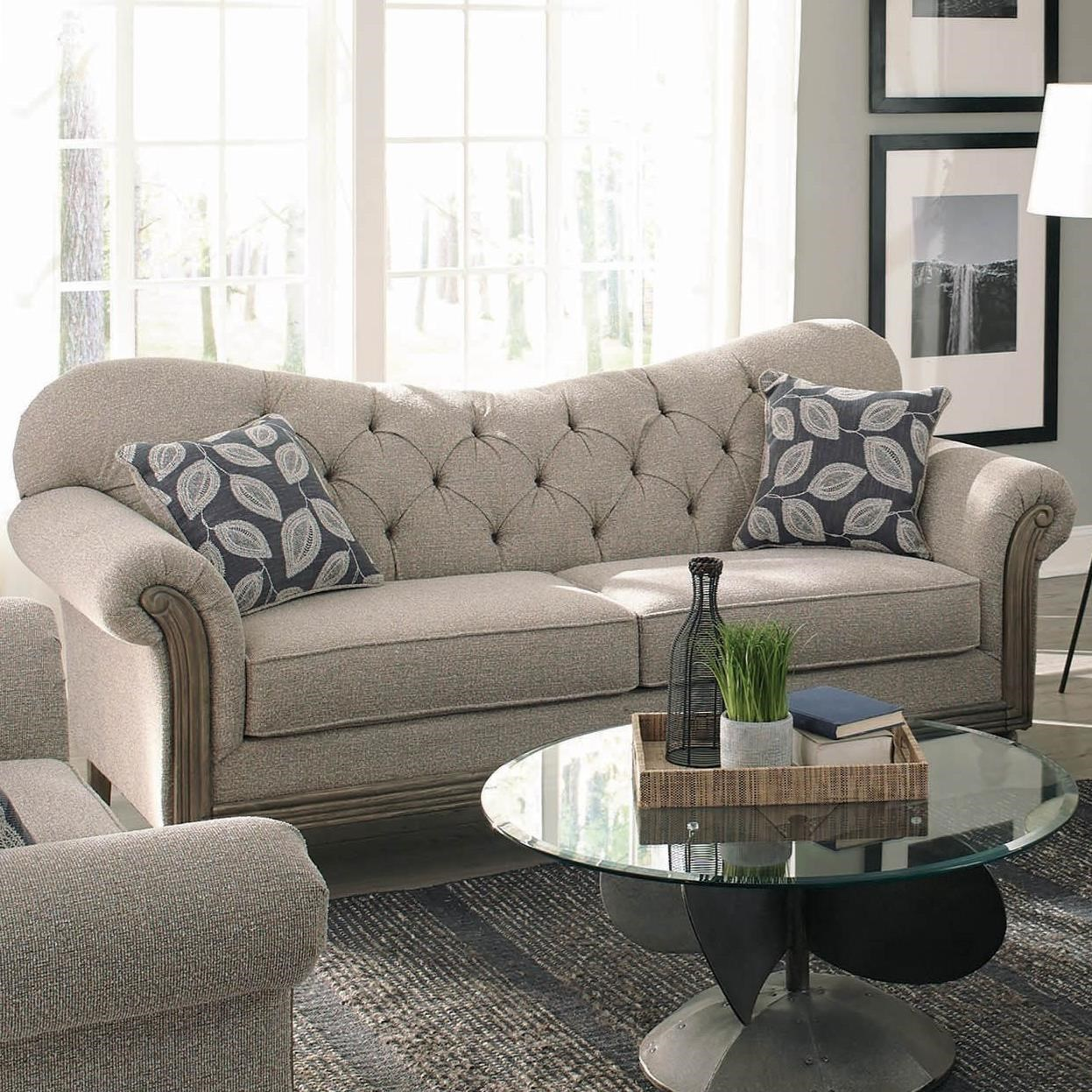 Gilmore Transitional Sweetheart Sofa With Tufting By Coaster