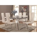 Coaster Giovanni Table and Chair Set - Item Number: 106011+6x100515WHT