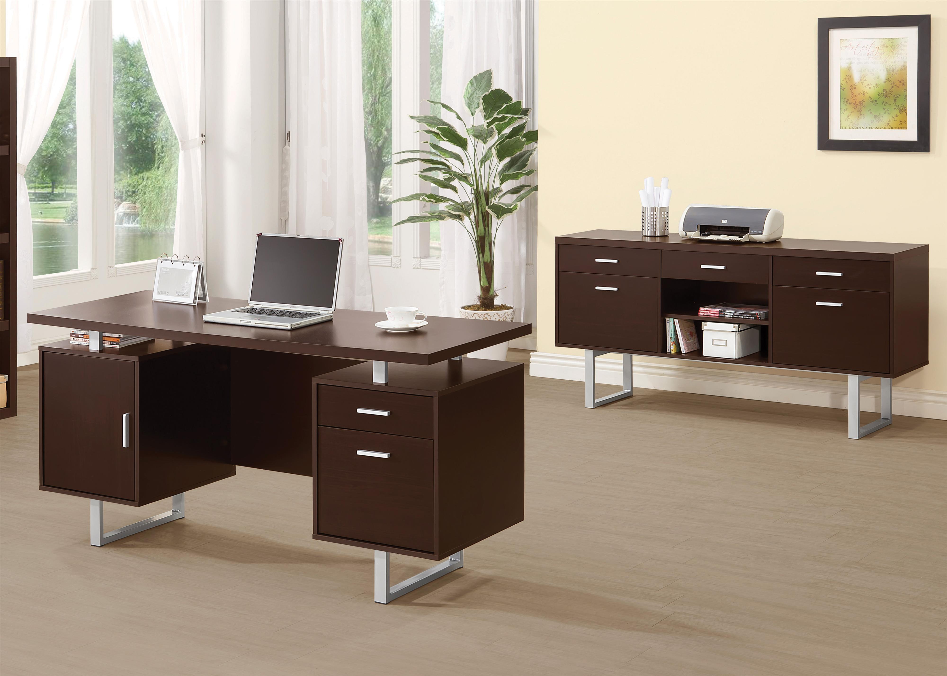 Coaster Glavan Contemporary Double Pedestal Office Desk
