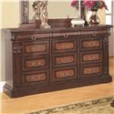 Coaster Grand Prado Dresser w/ 3 Felt-Lined Drawers and 9 Drawers - 202203