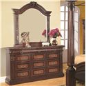 Coaster Grand Prado Dresser Mirror - Shown with Dresser
