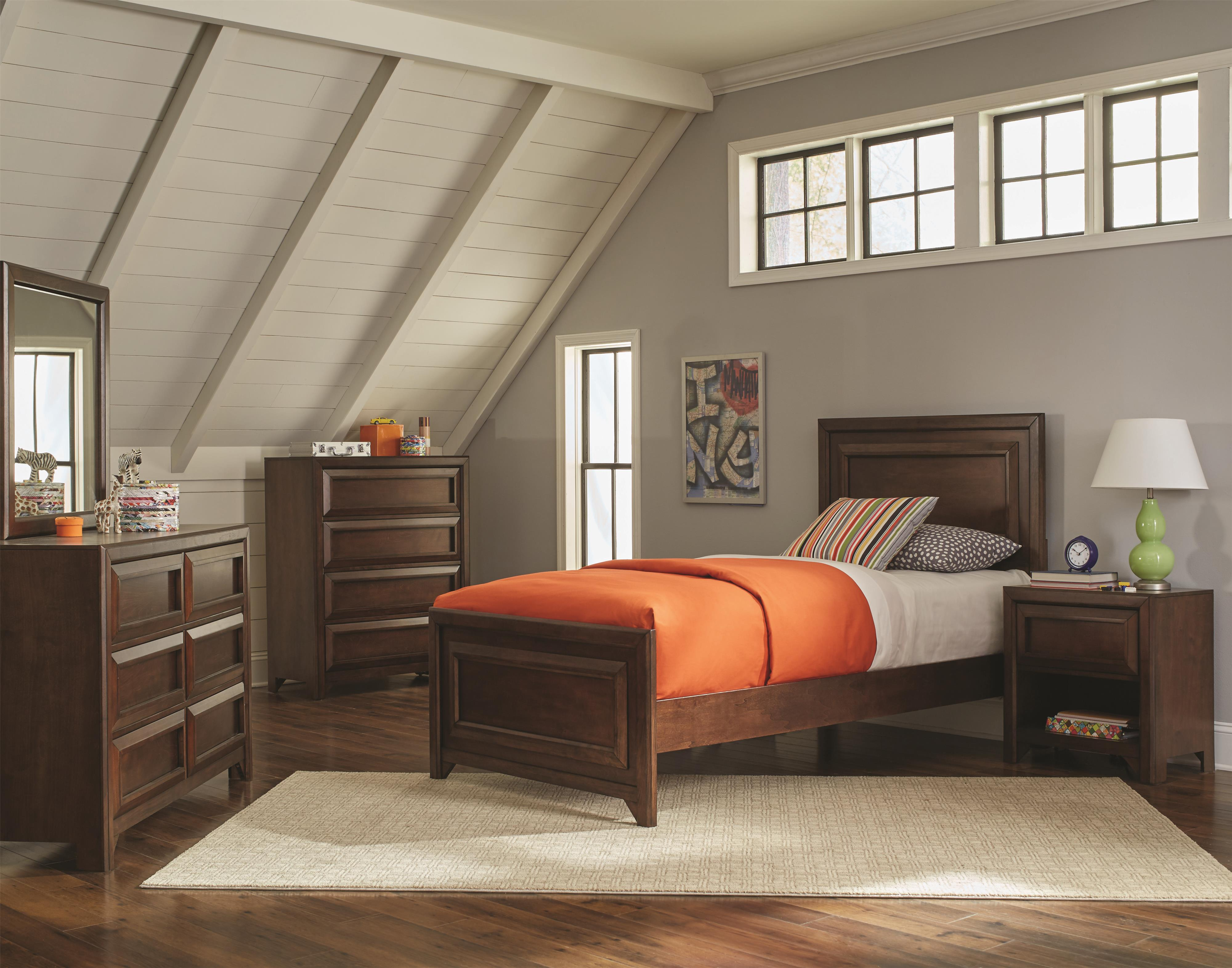 Coaster Greenough Twin Bedroom Group - Item Number: 4008 T Bedroom Group 2