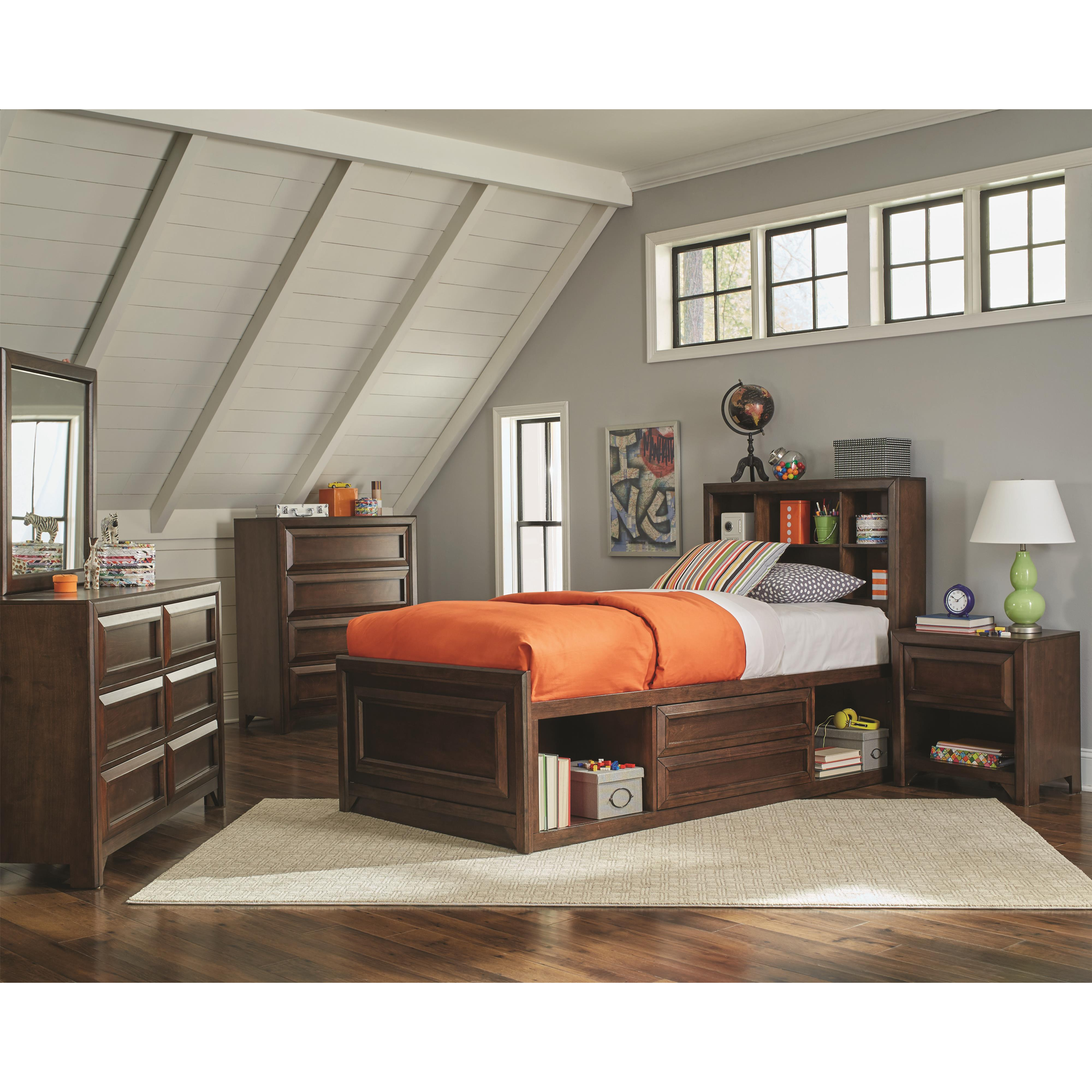 Dfw Direct Furniture: Coaster Greenough 400820T Twin Bed With Bookcase Storage