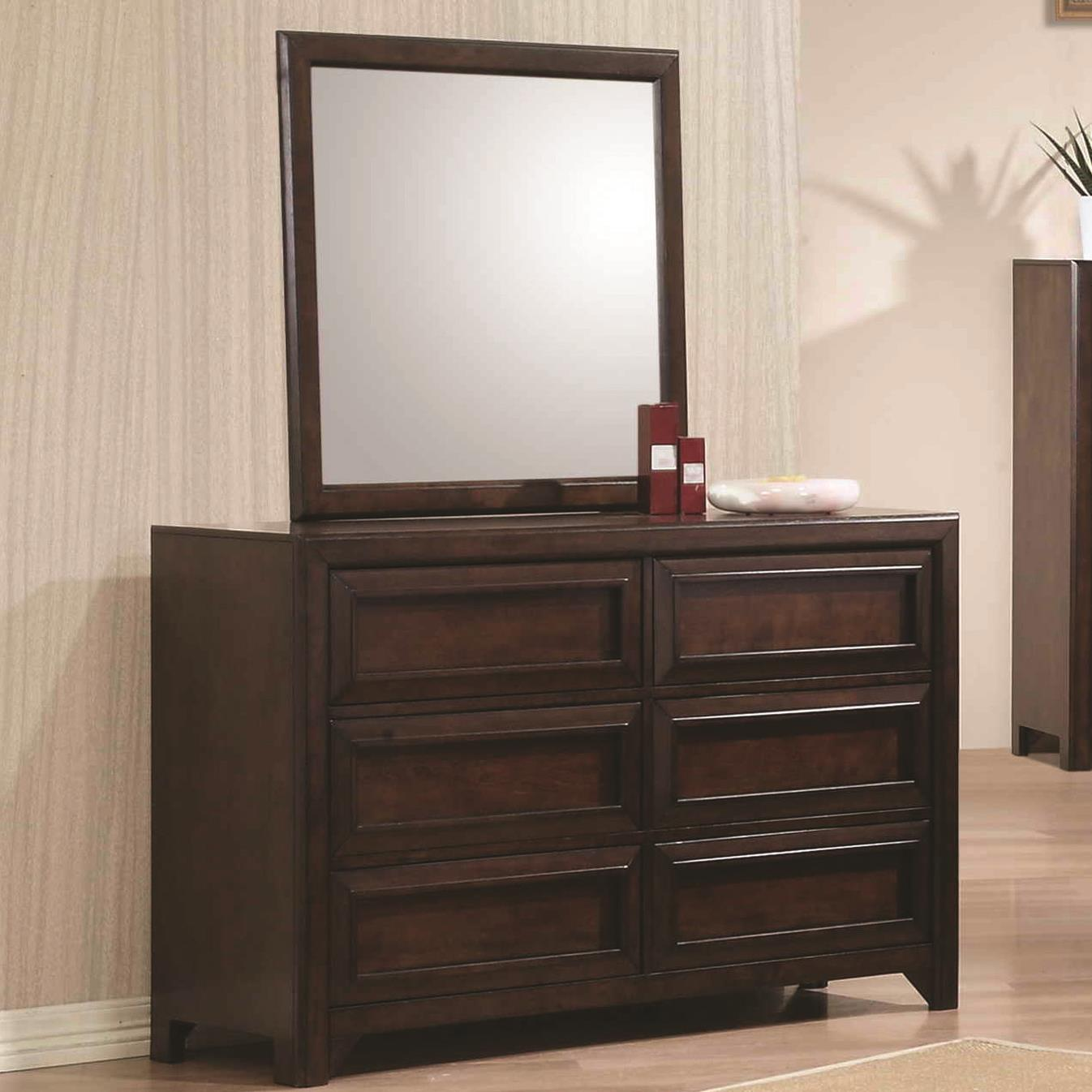 Coaster Greenough Dresser and Mirror - Item Number: 400823+400824