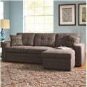 Coaster Gus Sectional Sofa with Tufts, Storage, and Pull Out Bed - 501677