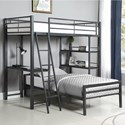 Coaster Hadley Twin Workstation Loft Bed - Item Number: 400961T