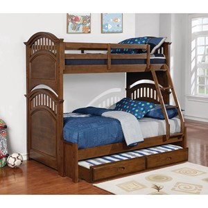 Twin over Full Bunk Bed w/ Storage Trundle