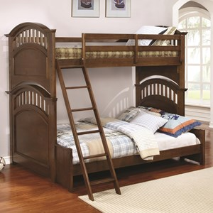 Coaster Halsted Twin over Full Bunk Bed