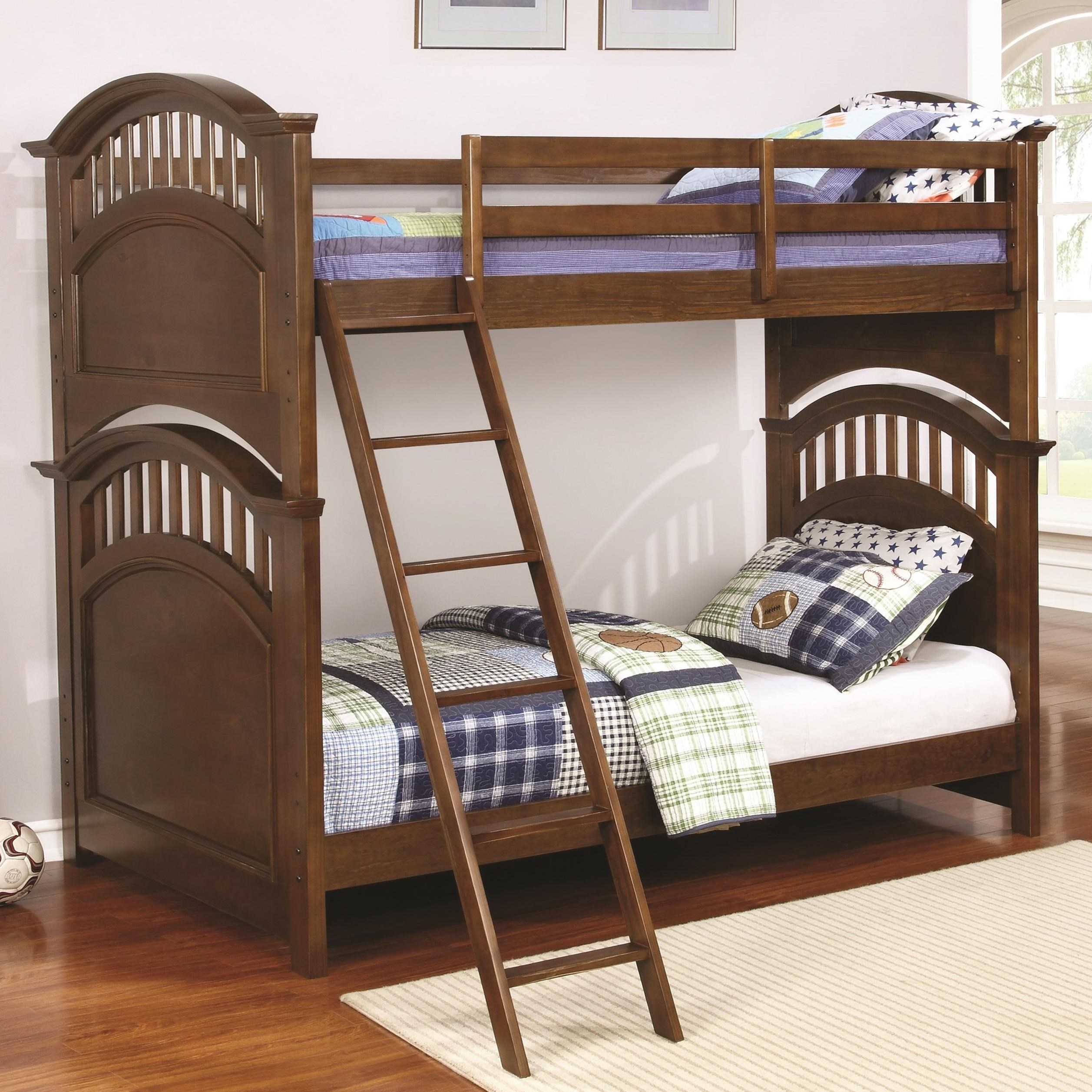 bunk bed with dresser coaster halsted casual wooden bunk bed with 14672